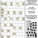 Clues In Squares Crossword Puzzle, Or… Stock Photo 270686282   Printable Arrow Crossword Puzzles For Free