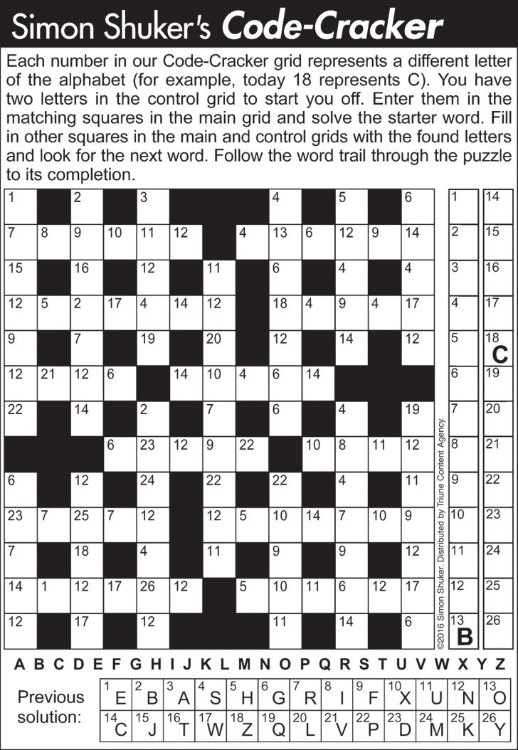 Printable Codebreaker Puzzles