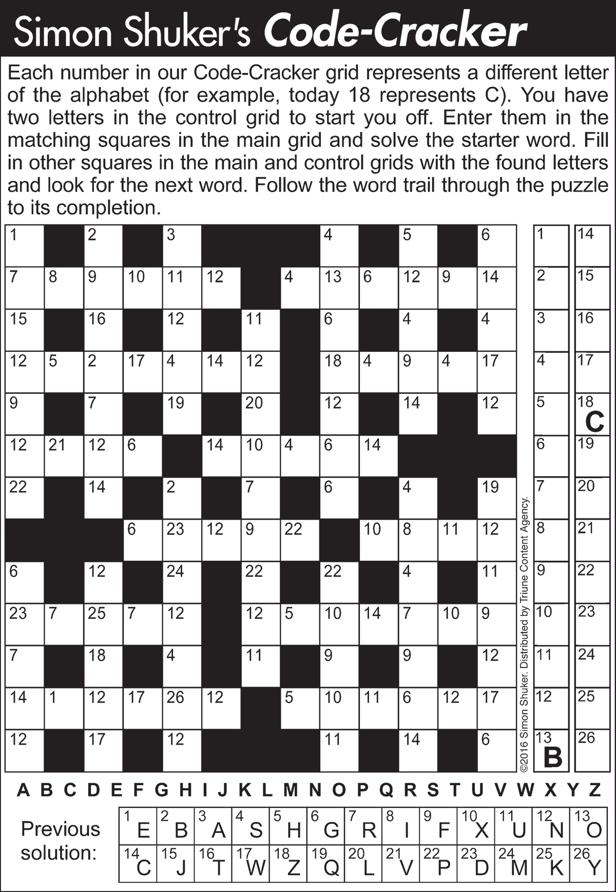 Code-Cracker Word Puzzles | Tribune Content Agency - Printable Codebreaker Puzzles