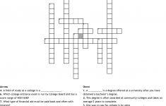 College Crossword Puzzle Crossword   Wordmint   Printable Crossword Puzzles For College Students