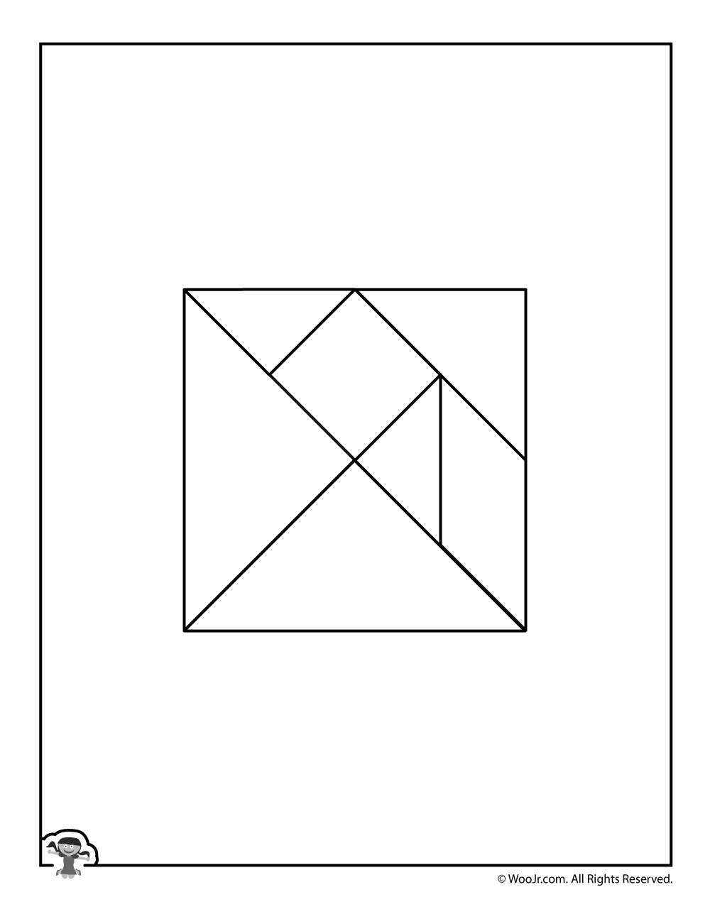 Color Your Own Printable Tangram Puzzle Pieces | Woo! Jr. Kids - Printable Tangram Puzzle
