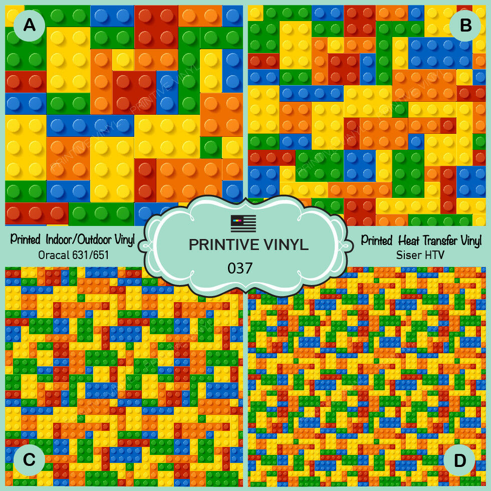 Colorful Kids Puzzle Block Toys Printed Siser Htv, Oracal Craft - Puzzle Print Vinyl
