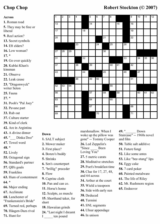 Coloring ~ Marvelous Large Print Crosswords Photo Ideas Free - Printable Crossword Large Print