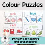 Colour Puzzles For Toddlers And Preschoolers   Toddler And   Printable Puzzles For 3 Year Olds