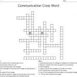 Communication Crossword   Wordmint   Printable Crossword #3
