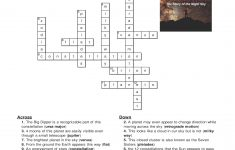 Constellations And Planets Crossword: One Of The Activities That – Printable Computer Crossword Puzzles With Answers