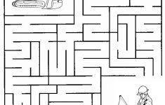Construction Maze   Summer Camp Construction   Mazes For Kids   Printable Puzzle Mazes