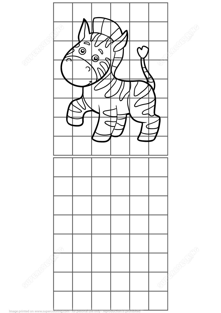 Copy The Zebra Grid Puzzle | Free Printable Puzzle Games - Printable Zebra Puzzles