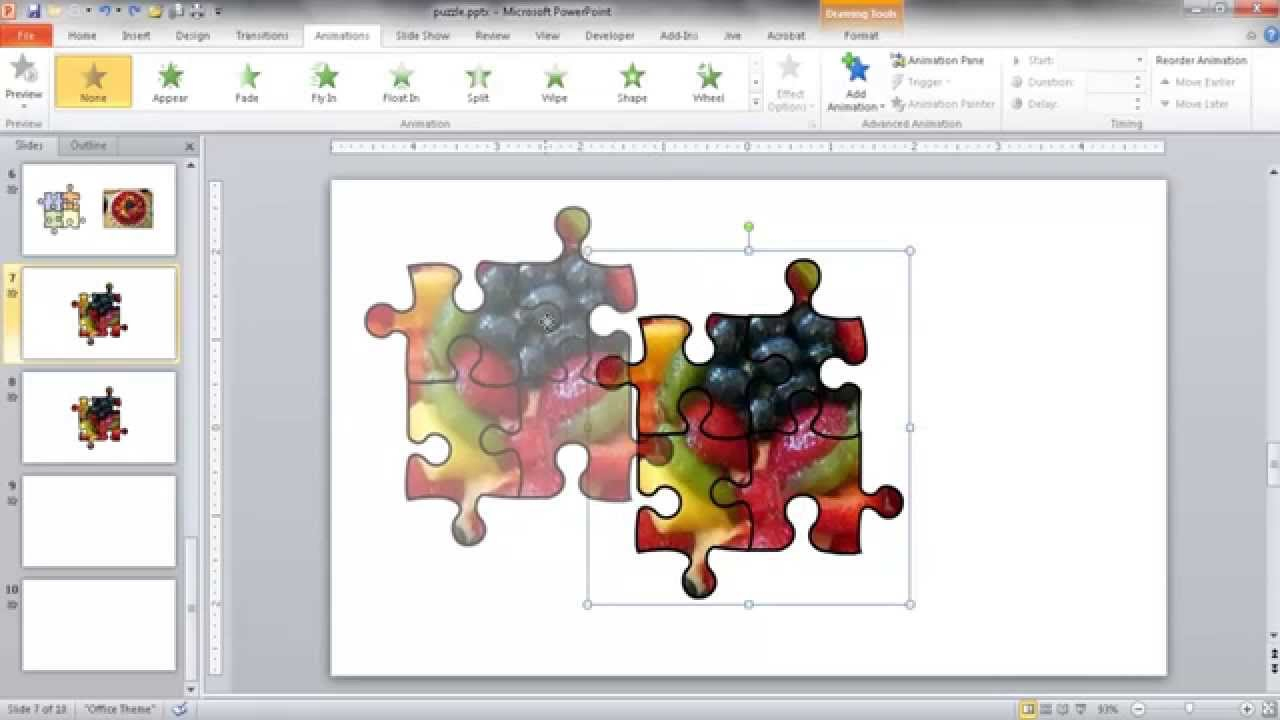 Create A Jigsaw Puzzle Image In Powerpoint - Youtube - Printable Jigsaw Puzzle Maker Software