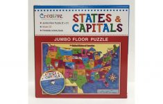 Creative Teaching Materials Ctm1022 States & Capitals Jumbo Floor   Printable Floor Puzzle