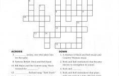 Creekside Forest Elementary   Printable Rock And Roll Crossword Puzzles