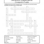 Crosspatch Puzzle To Print About Declaration Independence. | Puzzled   Printable Nfl Crossword Puzzles