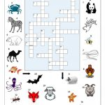 Crossword   Animals 2 Worksheet   Free Esl Printable Worksheets Made   Printable Crossword Animal