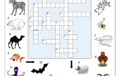 Crossword   Animals 2 Worksheet   Free Esl Printable Worksheets Made   Printable Crossword Animal