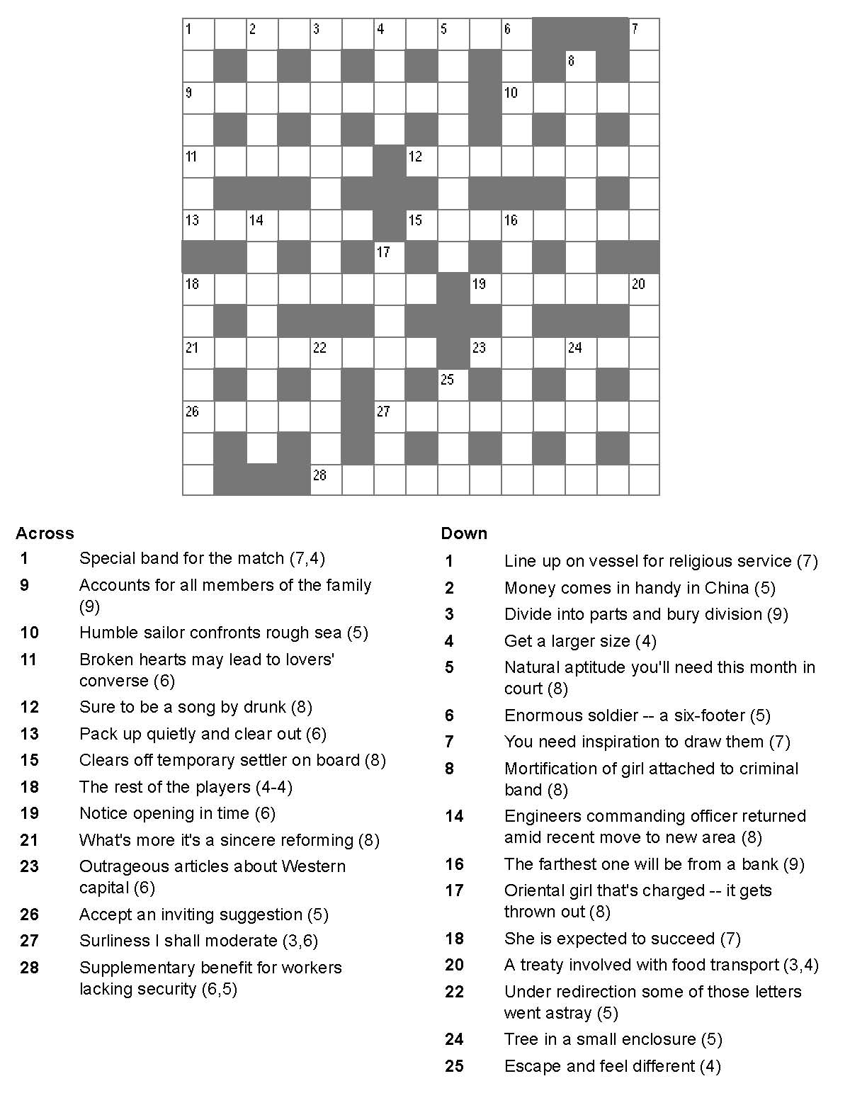 Crossword Clue Without Interruption 3 And 4 Letters - Printable Telegraph Crossword