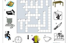 Crossword   In The House (1) Worksheet   Free Esl Printable   Printable House Puzzle