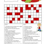 Crossword (Intermediate) Worksheet – Free Esl Printable Worksheets – Intermediate Crossword Puzzles Printable