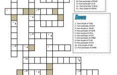 Crossword:: Irregular Verbs Worksheet   Free Esl Printable   Crossword Puzzles Printable On Tenses
