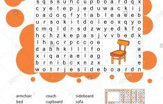 Crossword   Living Room Furniture   Learning English Words. Word   Printable Crosswords For Learning English