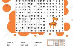 Crossword   Living Room Furniture   Learning English Words. Word   Printable Crosswords To Learn English