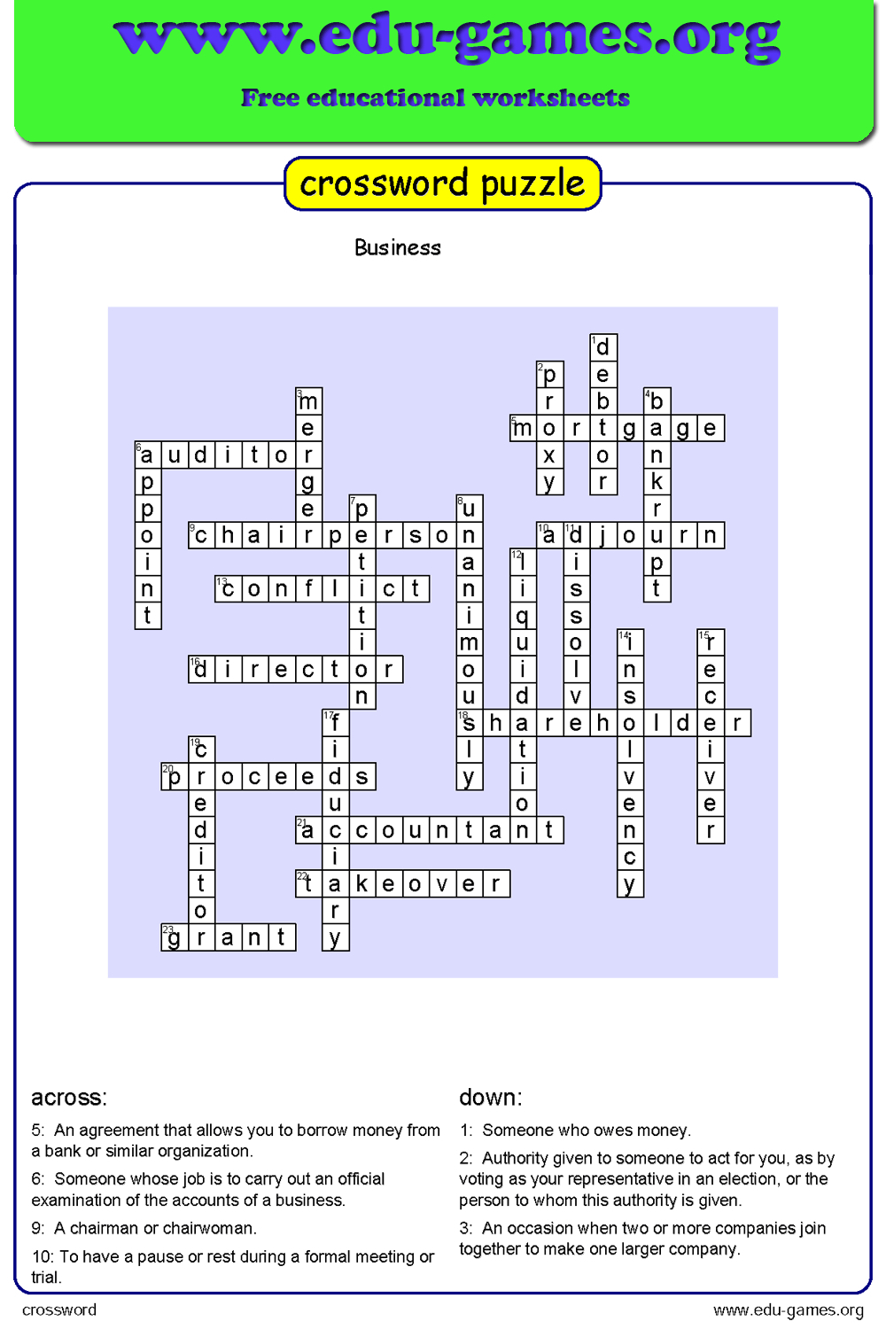 Crossword Maker - Free Printable Worksheets - Crossword Maker Free - Free Printable Reading Crossword Puzzles