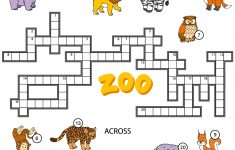 Crossword Puzzle About Zoo Animals | Free Printable Puzzle Games   Zoo Crossword Puzzle Printable