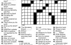 Crossword Puzzle Easy Printable Puzzles For Seniors   Printable Mind Puzzle Games