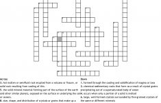 Crossword Puzzle For Rocks And Minerals Crossword   Wordmint   Rocks Crossword Puzzle Printable
