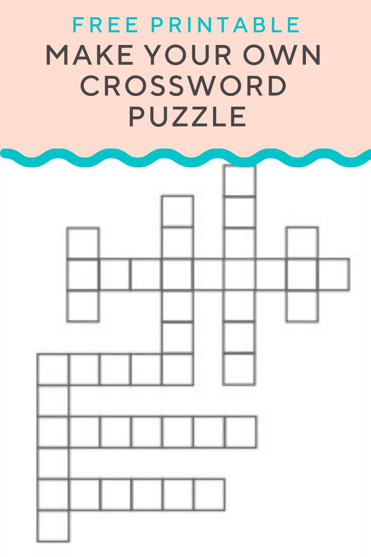 Crossword Puzzle Generator | Create And Print Fully Customizable - Create A Crossword Puzzle Free Printable