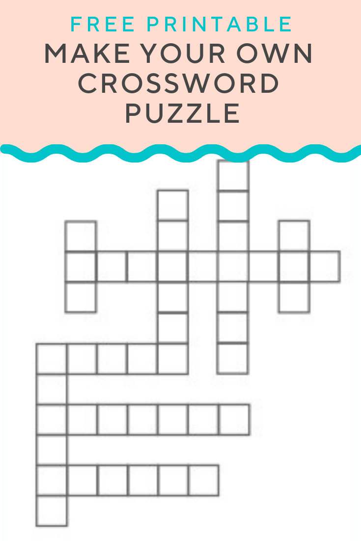 Crossword Puzzle Generator | Create And Print Fully Customizable - Custom Crossword Puzzle Printable