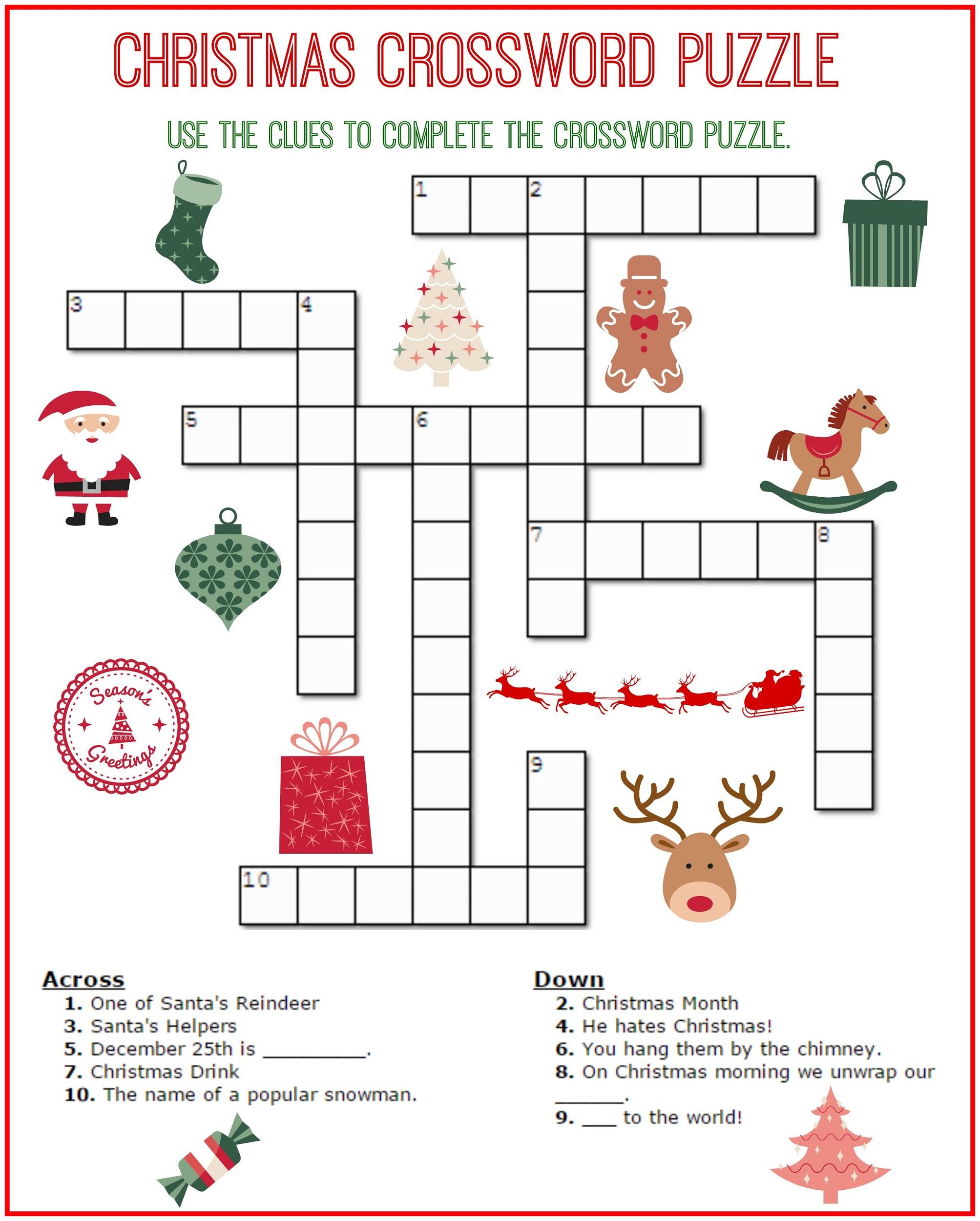 Crossword Puzzle Kids Printable 2017 | Kiddo Shelter - Free Easy - Printable Crossword Puzzles For 6 Year Olds