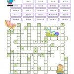 Crossword Puzzle Numbers Worksheet   Free Esl Printable Worksheets   Esl Crossword Puzzles Printable