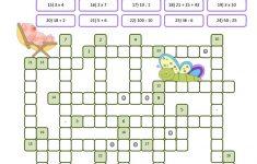 Crossword Puzzle Numbers Worksheet   Free Esl Printable Worksheets   Printable Crossword Number Puzzles