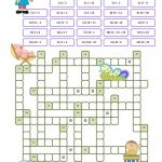 Crossword Puzzle Numbers Worksheet   Free Esl Printable Worksheets   Printable Word Puzzles For 7 Year Olds