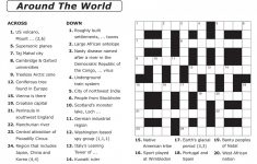 Crossword Puzzle Printable Large Print Crosswords ~ Themarketonholly   Printable Crossword Puzzles Spanish