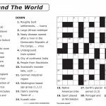 Crossword Puzzle Printable Large Print Crosswords ~ Themarketonholly – Printable German Crosswords
