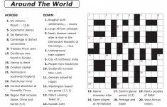 Crossword Puzzle Printable Large Print Crosswords ~ Themarketonholly   Volcano Crossword Puzzle Printable