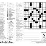 Crossword Puzzle Printable New York Times Crosswords   Printable New York Crossword Puzzles