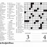 Crossword Puzzle Printable Ny Times Crosswords ~ Themarketonholly   Free Printable Ny Times Crossword Puzzles