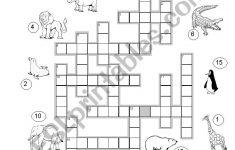 Crossword Puzzle Zoo Animals   Esl Worksheetmarylin   Zoo Crossword Puzzle Printable