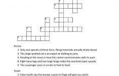 Crossword Puzzles For 5Th Graders   Activity Shelter   Printable Crossword Puzzles For Grade 7