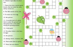 Crossword Spring Worksheet   Free Esl Printable Worksheets Made   Printable Spring Puzzle