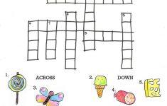 Crossword To Practice. Food | Storybook Activities | Hungry   Printable Crossword Puzzle For Kindergarten