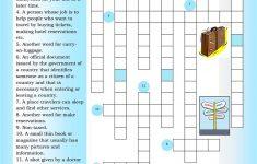 Crossword: Traveling Worksheet   Free Esl Printable Worksheets Made   Printable Intermediate Crossword Puzzles