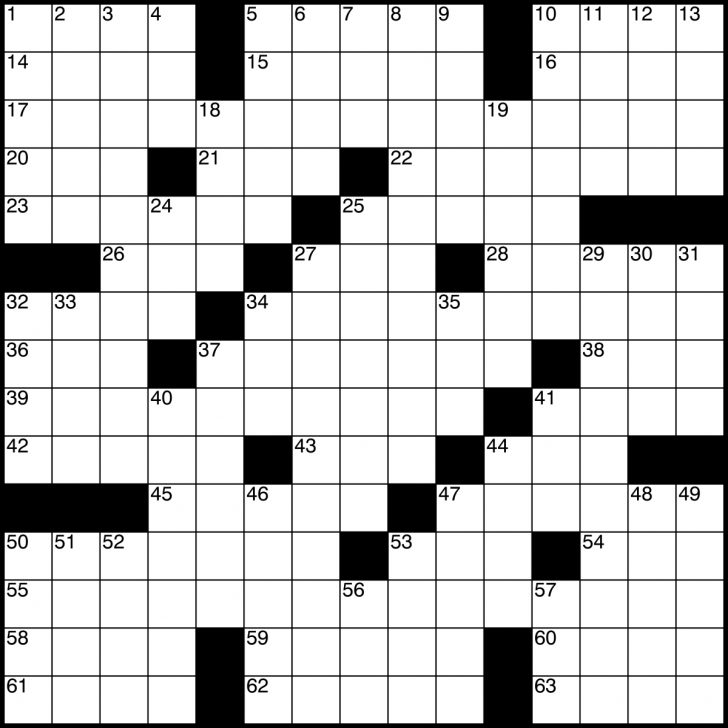 Blank Crossword Puzzle Grids Printable