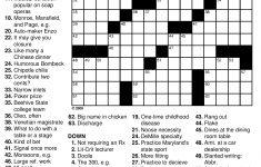 Crosswords Crossword Puzzle To Print Canyoufeelit ~ Themarketonholly   Easy Large Print Crossword Puzzles Printable