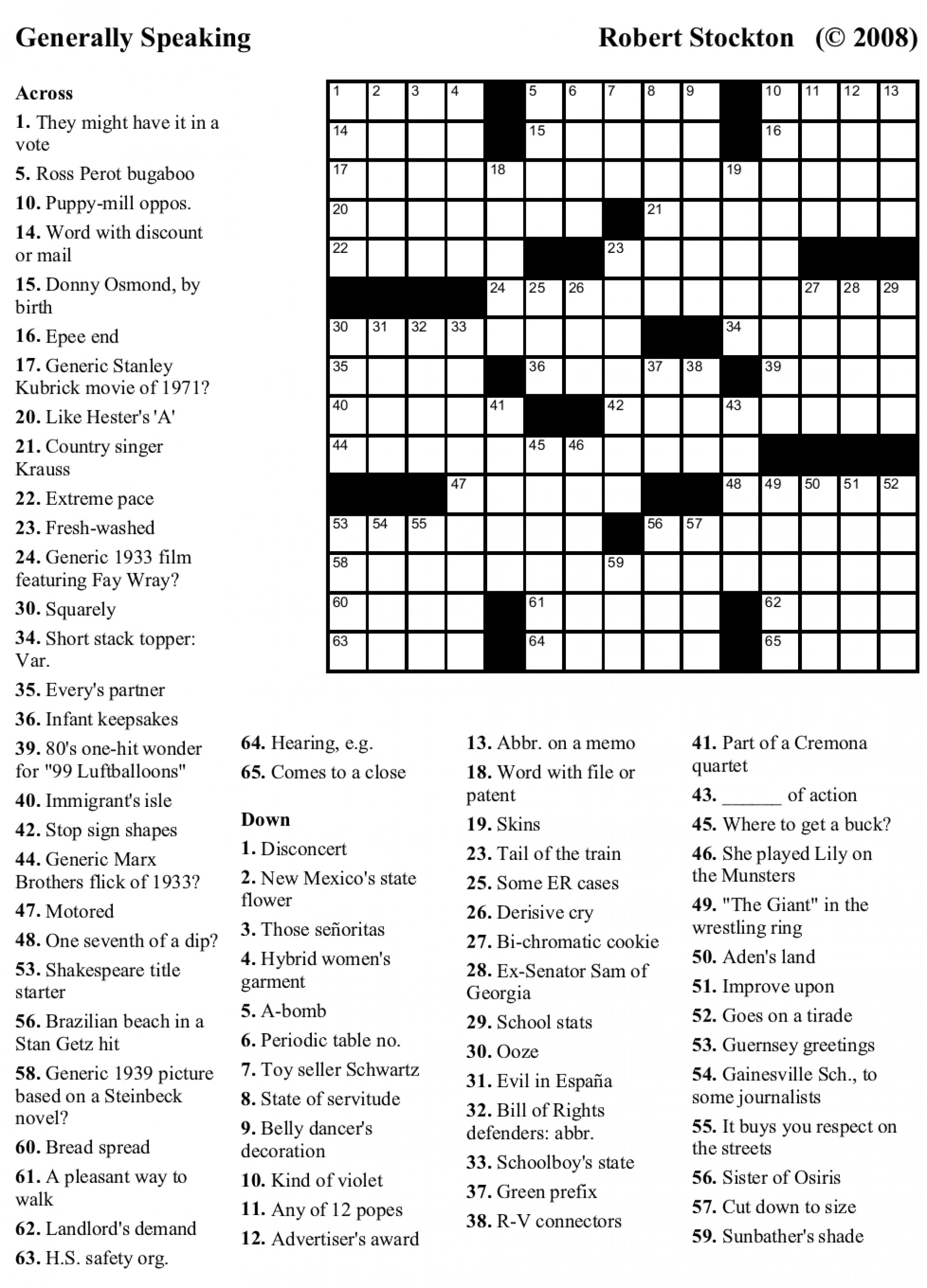 Crosswords Crossword Puzzles Printable Free Usa Today - Printable Crossword Usa Today