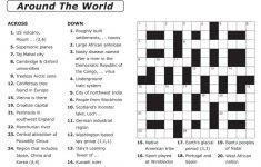 Crosswords Printable Crossword Puzzle Maker Online Free To Print   Free Printable General Knowledge Crossword Puzzles