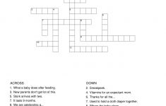 Crosswords Puzzle Baby Shower   Templates At Allbusinesstemplates   Free Printable Baby Shower Crossword Puzzle