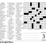 Crosswords Sunday Crossword Puzzle Printable ~ Themarketonholly   La Times Crossword Printable Version